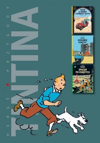 Okładka książki Tintin w krainie czarnego złota / Kierunek Księżyc / Spacer po Księżycu