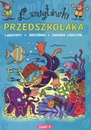 Okładka książki łamigłówki przedszkolaka /Labirynty krzyżówki zadania logiczne