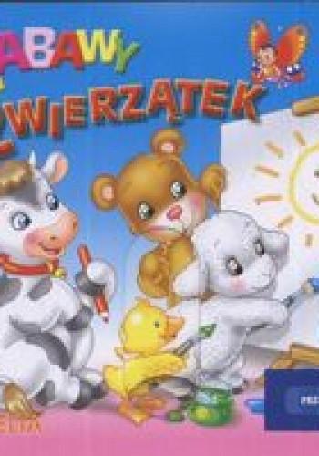 Okładka książki zabawy zwierzątek Przesuwanki