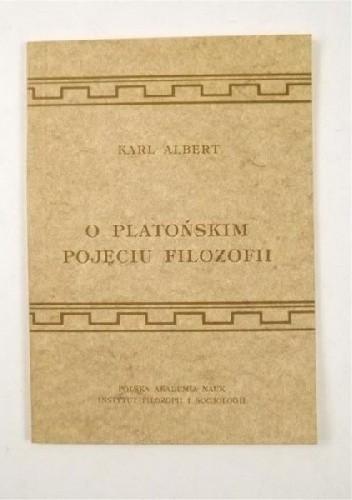 Okładka książki O platońskim pojęciu filozofii
