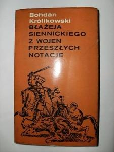 Okładka książki Błażeja Siennickiego z wojen przeszłych notacje