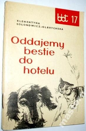 Okładka książki Oddajemy bestie do hotelu
