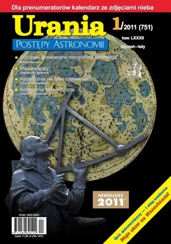 Okładka książki Urania - Postępy Astronomii 1/2011