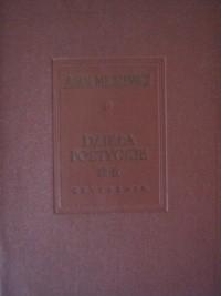 Okładka książki Dzieła poetyckie tom III i IV