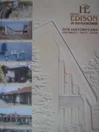 Okładka książki Hotel Edison w Baranowie. Rys historyczny, dokumenty, fakty, ludzie