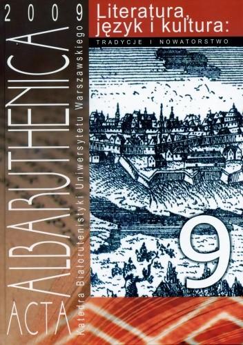 Okładka książki Acta Albaruthenica 9