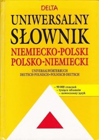 Okładka książki Uniwersalny słownik niemiecko-polski, polsko-niemiecki