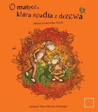 Okładka książki O małpce, która spadła z drzewa