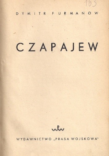 Okładka książki Czapajew