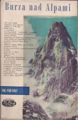 Okładka książki Burza nad Alpami