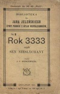 Okładka książki Rok 3333 czyli Sen niesłychany