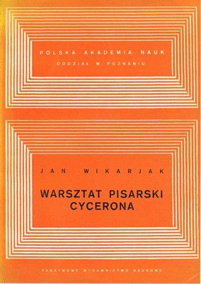 Okładka książki Warsztat pisarski Cycerona