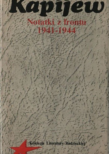 Okładka książki Notatki z frontu 1941 - 1944