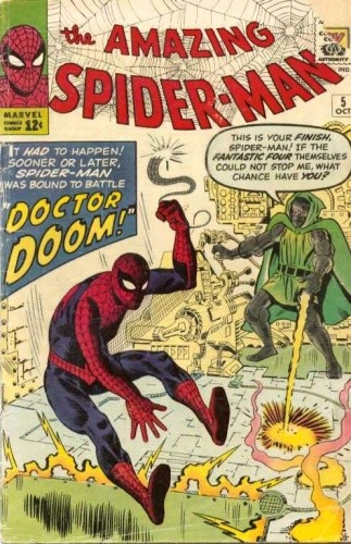 Okładka książki Amazing Spider-Man - #005 - Marked for Destruction By Dr. Doom!