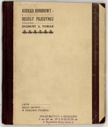 Okładka książki Kodeks honorowy i reguły pojedynku