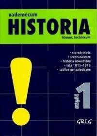 Okładka książki Vademecum Historia - część 1