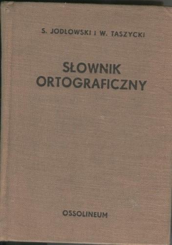Okładka książki Słownik ortograficzny