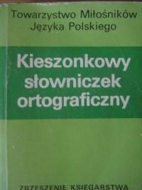 Okładka książki Kieszonkowy słowniczek ortograficzny