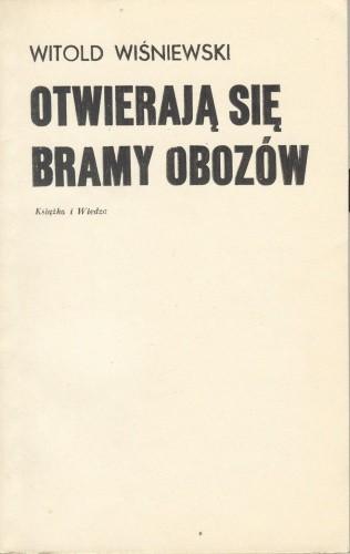 Okładka książki Otwierają się bramy obozów