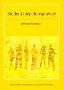 Okładka książki Student niepełnosprawny. Wybrane konteksty