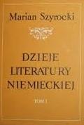Okładka książki Dzieje literatury niemieckiej