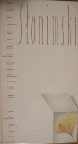 Okładka książki Liryki najpiękniejsze. Słonimski