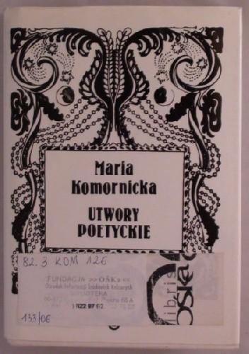 Okładka książki Utwory poetyckie prozą i wierszem