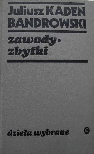 Okładka książki Zawody. Zbytki.