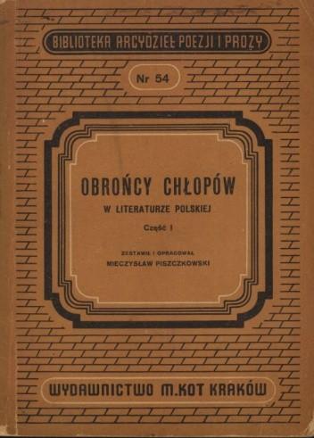 Okładka książki Obrońcy chłopów w literaturze staropolskiej