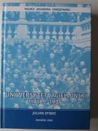 Okładka książki Uniwersytet Jagielloński 1918-1939