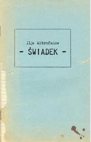 Okładka książki Świadek