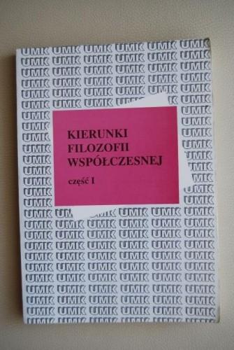 Okładka książki Kierunki filozofii współczesnej , t. 1