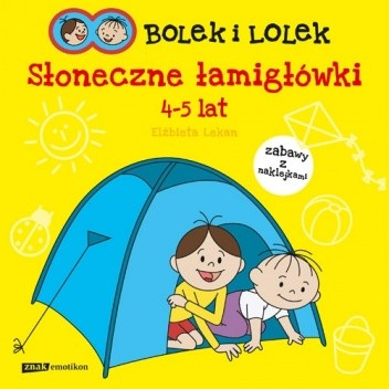 Okładka książki Bolek i Lolek. Słoneczne łamigłówki