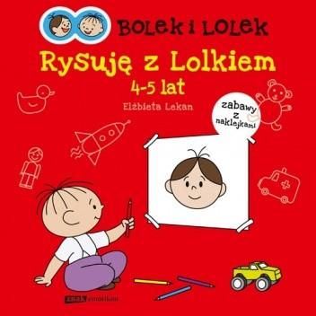 Okładka książki Bolek i Lolek. Rysuję z Lolkiem