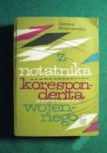 Okładka książki Z notatnika korespondenta wojennego