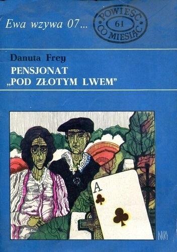 """Okładka książki Pensjonat """"Pod złotym lwem"""""""