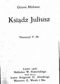 Okładka książki Ksiądz Juliusz