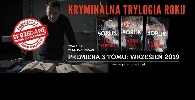 """""""Materiał ludzki"""" Piotra Borlika już w księgarniach!"""
