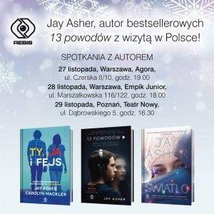Jay Asher w Polsce!