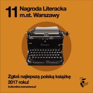 Zgłoś książkę do Nagrody Literackiej m.st. Warszawy!