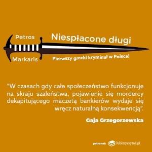 Kiedy kryzys rodzi zbrodnię - pierwszy grecki kryminał w Polsce