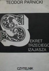 Okładka książki Sekret trzeciego Izajasza Teodor Parnicki