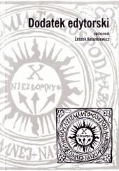 Okładka książki Dodatek edytorski Leszek Kolankiewicz