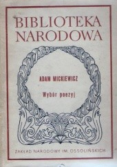 Okładka książki Wybór poezyj Adam Mickiewicz