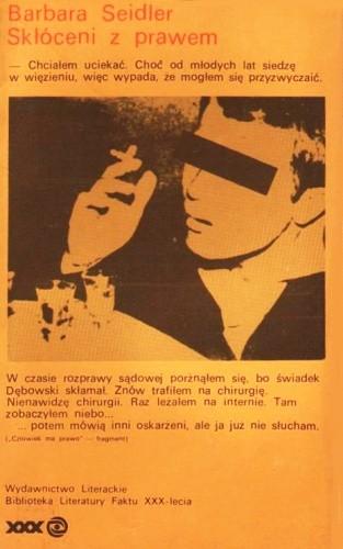 Okładka książki Skłóceni z prawem Barbara Seidler