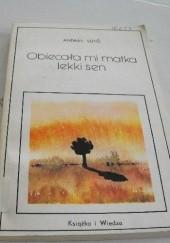 Okładka książki Obiecała mi matka lekki sen Andras Suto