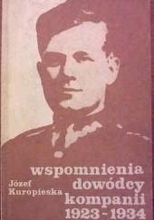 Okładka książki Wspomnienia dowódcy kompanii 1923-1934 Józef Kuropieska