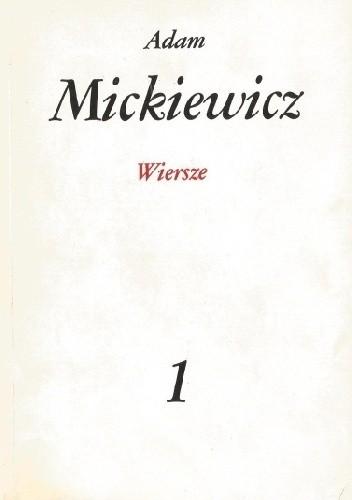 Okładka książki Wiersze Adam Mickiewicz