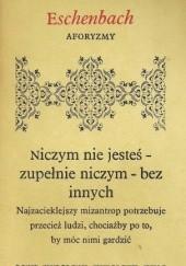 Okładka książki Aforyzmy Marie von Ebner-Eschenbach