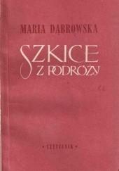 Okładka książki Szkice z podróży Maria Dąbrowska